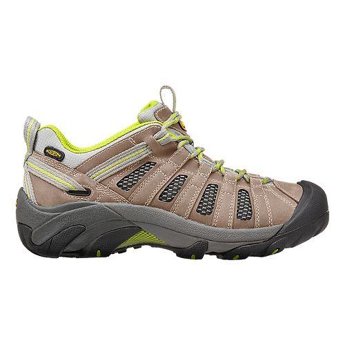Womens Keen Voyageur Hiking Shoe - Grey/Green 7.5