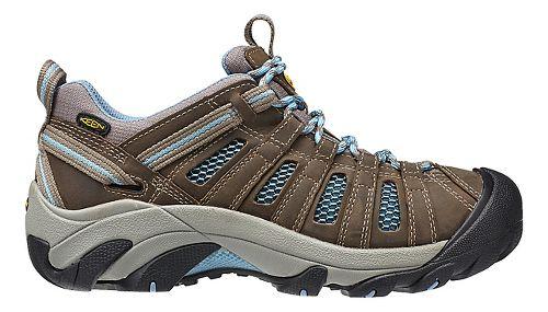 Womens Keen Voyageur Hiking Shoe - Brindle/Blue 6.5