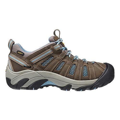 Womens Keen Voyageur Hiking Shoe - Brindle/Blue 8