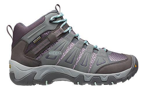 Womens Keen Oakridge Mid WP Hiking Shoe - Grey 7