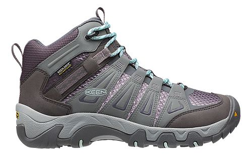 Womens Keen Oakridge Mid WP Hiking Shoe - Grey 9