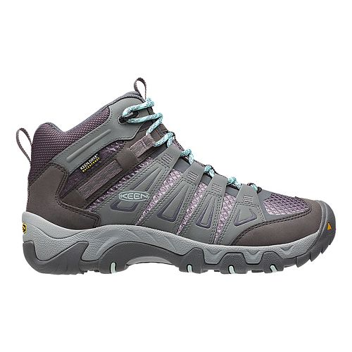 Womens Keen Oakridge Mid WP Hiking Shoe - Grey 5