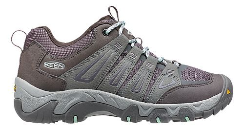 Womens Keen Oakridge Hiking Shoe - Grey/Aqua 6.5