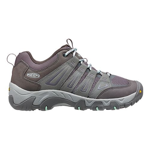 Womens Keen Oakridge Hiking Shoe - Grey/Aqua 5
