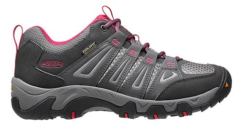Womens Keen Oakridge WP Hiking Shoe - Magnet/Rose 5