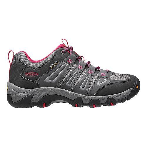 Womens Keen Oakridge WP Hiking Shoe - Magnet/Rose 7.5