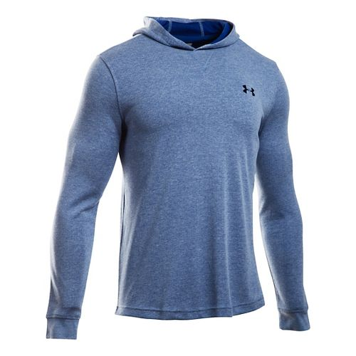 Mens Under Armour Waffle Popover Hoodie & Sweatshirts Technical Tops - Heron XXLR