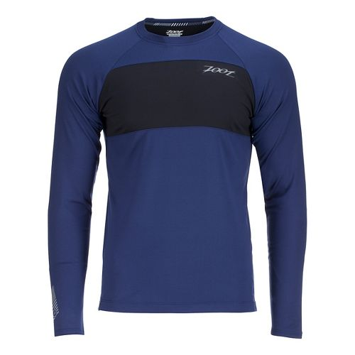 Mens Zoot Ocean Side Long Sleeve Technical Tops - Midnight/Midnight L