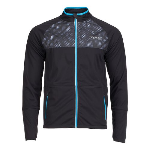 Mens Zoot Spin Drift Softshell Jacket Rain Jackets - Black/Rip Tide S