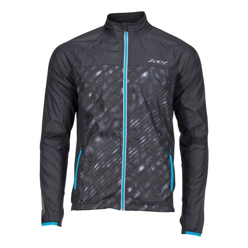 Mens Zoot Wind Swell + Rain Jackets - Black/Rip Tide L