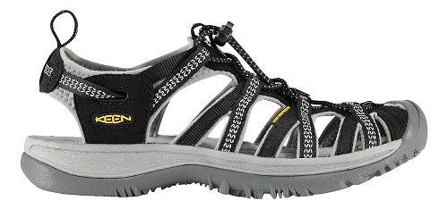 Womens Keen Whisper Sandals Shoe - Black/Grey 11
