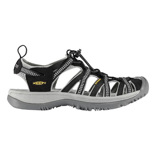 Womens Keen Whisper Sandals Shoe - Black/Grey 5