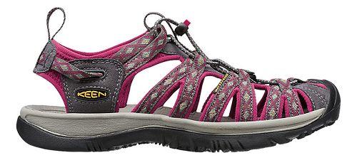 Womens Keen Whisper Sandals Shoe - Magnet/Sangria 10