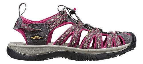 Womens Keen Whisper Sandals Shoe - Magnet/Sangria 5