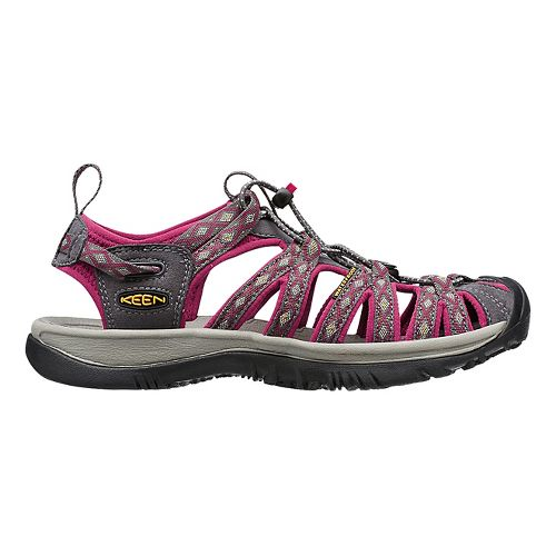 Womens Keen Whisper Sandals Shoe - Magnet/Sangria 10