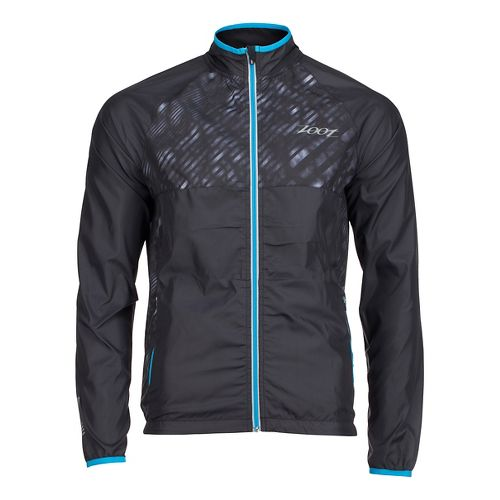 Mens Zoot Wind Swell Running Jackets - Black/Rip Tide S