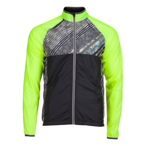 Mens Zoot Wind Swell Running Jackets - High Viz/High Tide XS