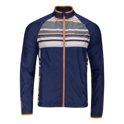 Mens Zoot Wind Swell Running Jackets - Midnight/Boardwalk L
