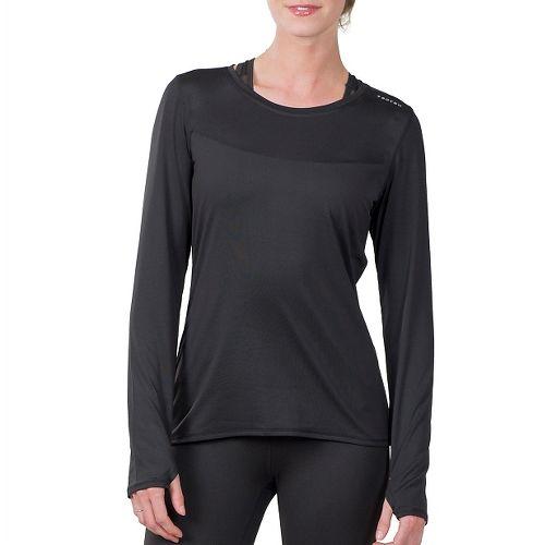Womens Soybu Endurance LS Tee Long Sleeve Technical Tops - Black XL