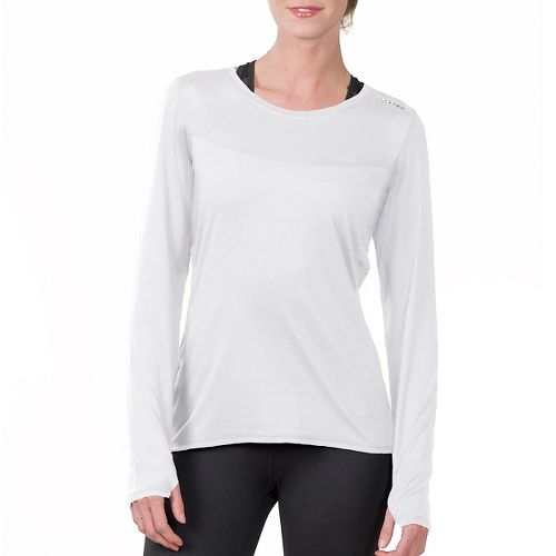 Womens Soybu Endurance LS Tee Long Sleeve Technical Tops - White XS