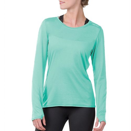 Womens Soybu Endurance LS Tee Long Sleeve Technical Tops - Jade XXL