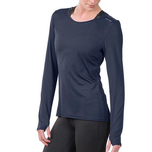Womens Soybu Endurance LS Tee Long Sleeve Technical Tops - Navy M
