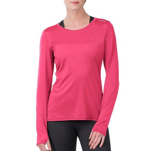 Womens Soybu Endurance LS Tee Long Sleeve Technical Tops - Pink M