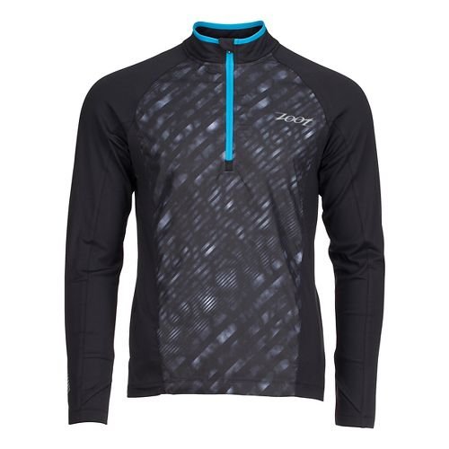 Mens Zoot Dawn Patrol 1/2 Zip Long Sleeve Technical Tops - Black/Rip Tide L