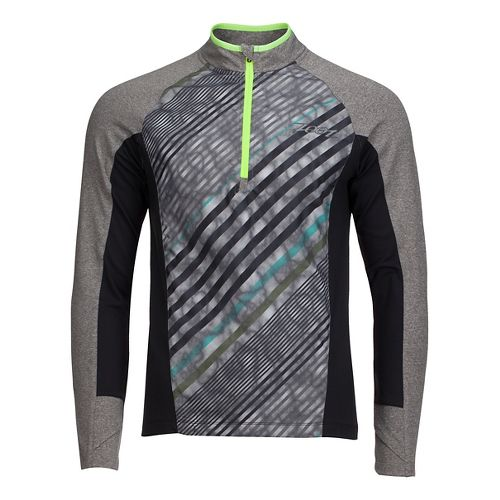 Mens Zoot Dawn Patrol 1/2 Zip Long Sleeve Technical Tops - Graphite/Hide Tide L