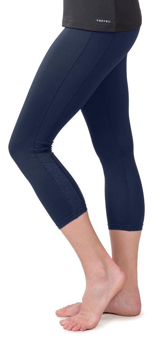 Womens Soybu Steel Core Capris Pants - Navy M