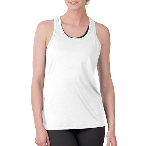 Womens Soybu Victory Sleeveless & Tank Technical Tops - White XS
