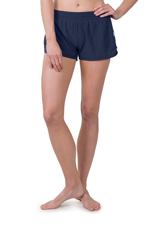 Womens Soybu Marathon Running Lined Shorts - Navy L