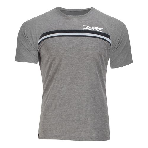 Mens Zoot Surfside Ink Tee Short Sleeve Technical Tops - Graphite Heather S