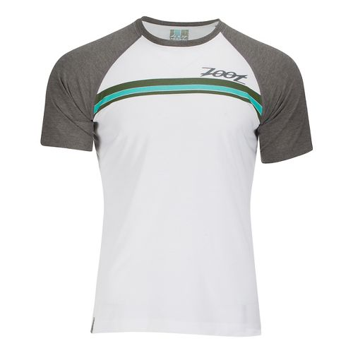 Mens Zoot Surfside Ink Tee Short Sleeve Technical Tops - White/Graphite XL