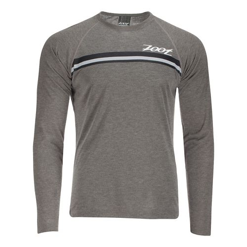 Mens Zoot Surfside Ink Long Sleeve Technical Tops - Graphite Heather S