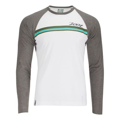 Mens Zoot Surfside Ink Long Sleeve Technical Tops - White/Graphite L