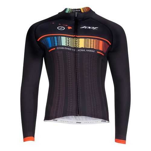 Mens Zoot Cycle Ali'i Thermo Jersey Long Sleeve Technical Tops - Flying Hawaiian L