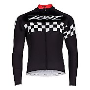 Mens Zoot Cycle Cali Thermo Jersey Long Sleeve Technical Tops
