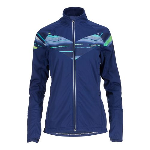 Womens Zoot Spin Drift Softshell Cold Weather Jackets - Midnight/Shore Break L