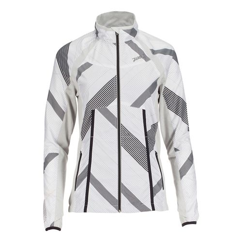 Womens Zoot Wind Swell + Running Jackets - White/Pipeline L