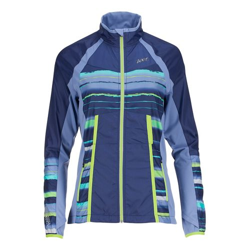 Womens Zoot Wind Swell + Running Jackets - Midnight/Shore Break L