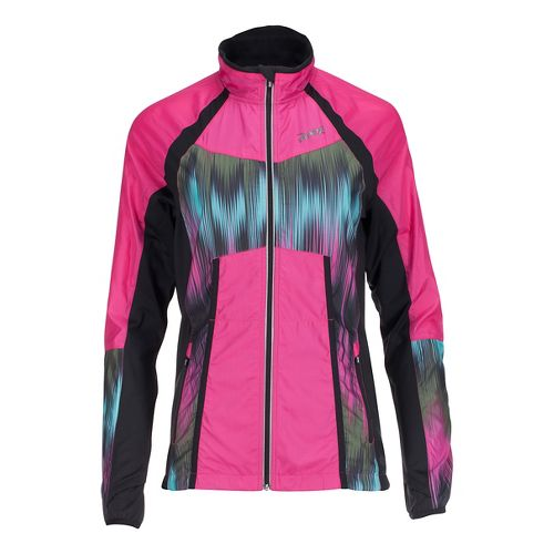 Womens Zoot Wind Swell + Running Jackets - Paradise/Good Vibes XS