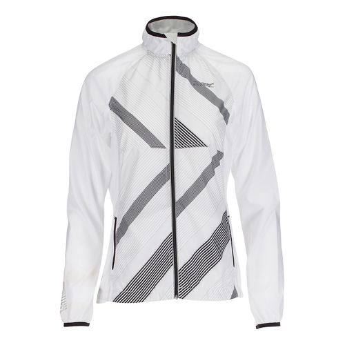 Womens Zoot Wind Swell Running Jackets - White/Pipeline XL