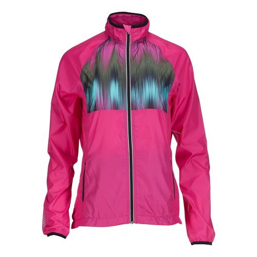 Womens Zoot Wind Swell Running Jackets - Paradise/Good Vibes L