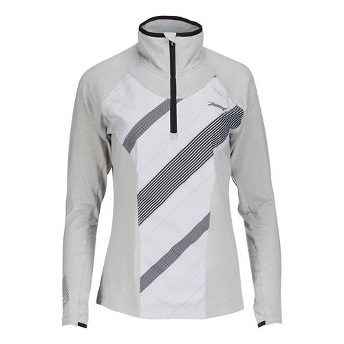 Womens Zoot Dawn Patrol 1/2 Zip Long Sleeve Technical Tops - Silverstrand/Pipe L