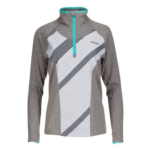 Womens Zoot Dawn Patrol 1/2 Zip Long Sleeve Technical Tops - Graphite/Pipeline XS