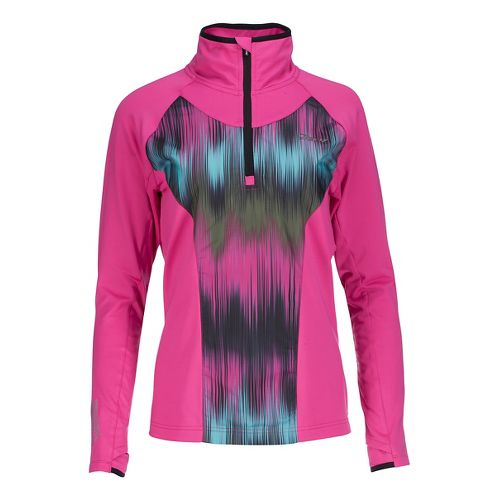 Womens Zoot Dawn Patrol 1/2 Zip Long Sleeve Technical Tops - Paradise/Good Vibes XS