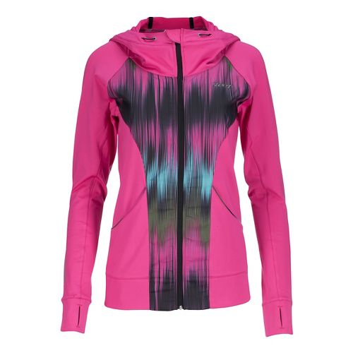 Womens Zoot Dawn Patrol Full Zip Hoodie Rain Jackets - Paradise/Good Vibes XL