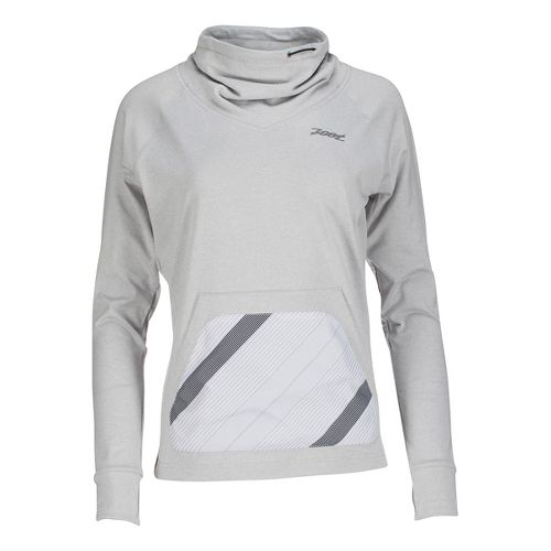 Womens Zoot Dawn Patrol Pull Over Long Sleeve Technical Tops - Silverstrand/Pipe L