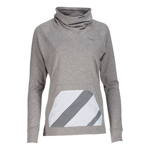 Womens Zoot Dawn Patrol Pull Over Long Sleeve Technical Tops - Graphite/Pipeline S